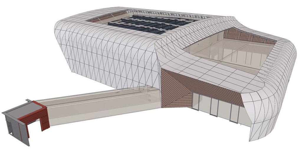 Centre de conférence Modèle 3D Tekla