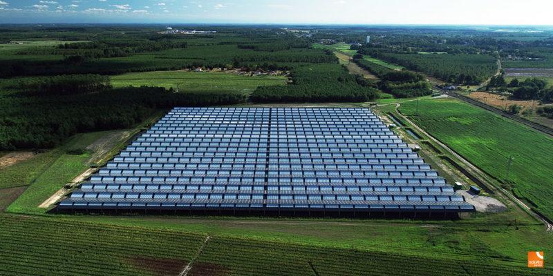 Versant Nord Ombrière photovoltaïque agricole - Solveo / Rion-des-Landes (40)