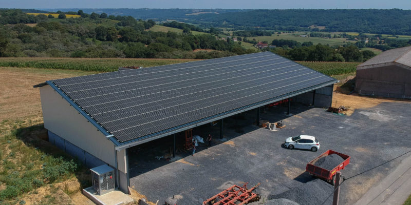 Versant Sud Bâtiment photovoltaïque CAPG Énergies Nouvelles / Gerderest (64)