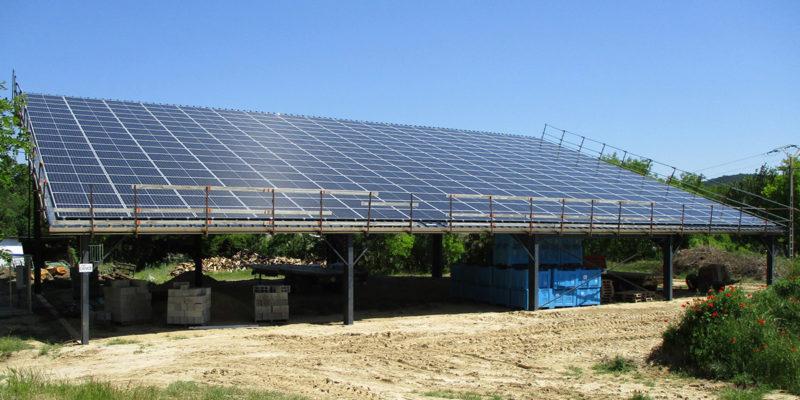 Versant Sud Hangar agricole photovoltaïque Albioma / Loriol-sur-Drôme (26)