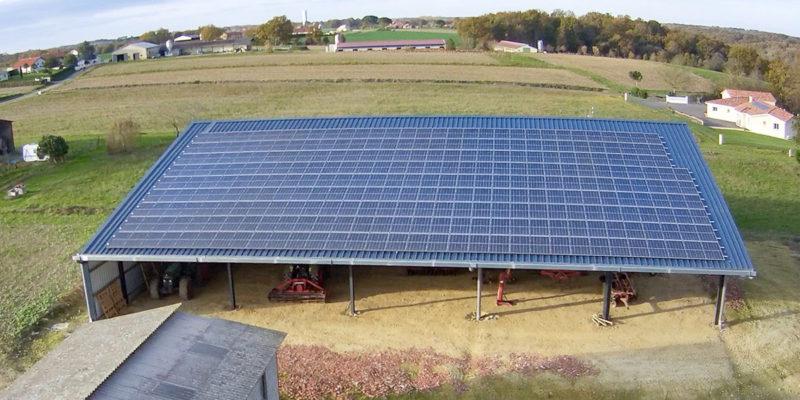 Versant Sud Bâtiment photovoltaïque Dubecq et Fils / Sorbets (40)