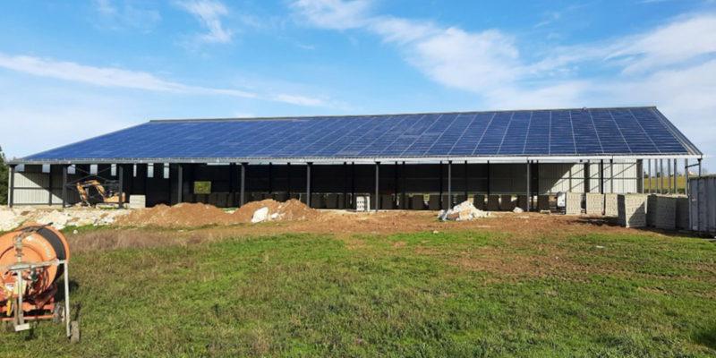 Versant Sud Bâtiment photovoltaïque agricole Tenergie / Saint-Amans-du-Pech (82)