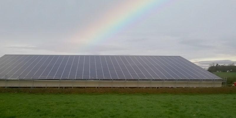Versant Sud Bâtiment agricole photovoltaïque Terre Solaire / Noyers (27)