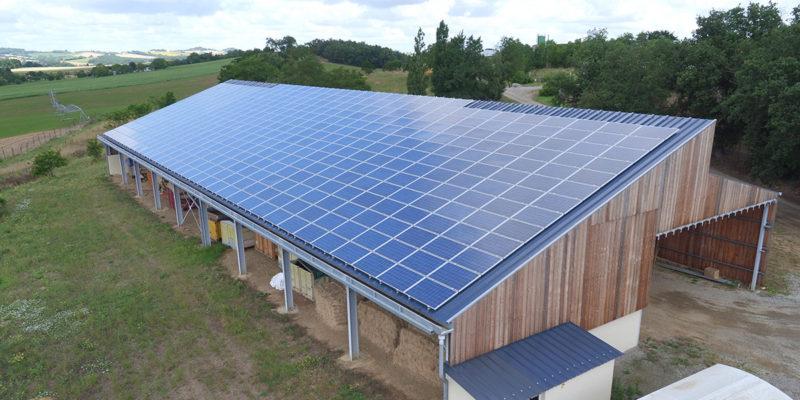 Bâtiment photovoltaïque EDF ENR / SAMATAN (32)
