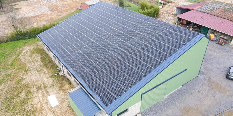 Versant Sud Bâtiment photovoltaïque Dubecq et Fils / Saint-Aubin (40)