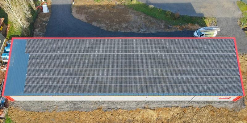 Bâtiment Monopente photovoltaïque Dubecq et Fils / Mugron (40)