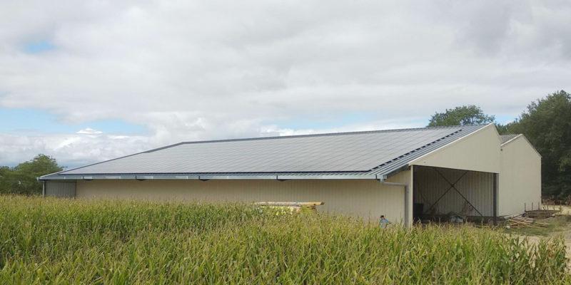 Versant Sud ouverture Bâtiment photovoltaïque Dubecq et Fils / Castandet (40)