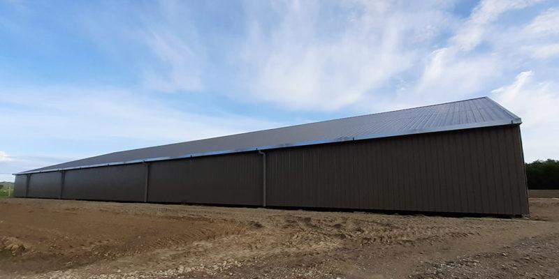 Vue bâtiment photovoltaïque Amarenco / Puch-d'Agenais (47)